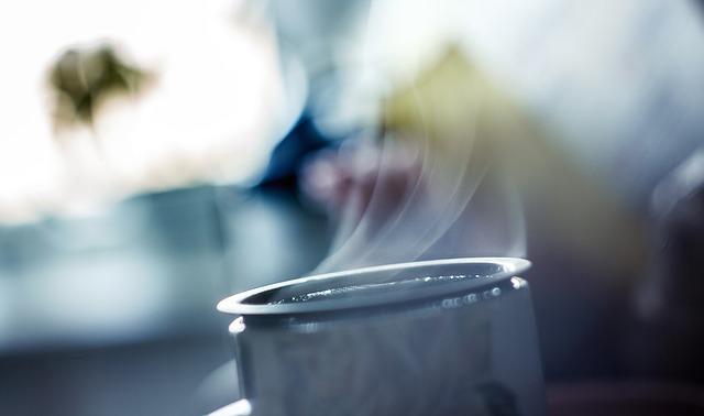 煎茶 湯気