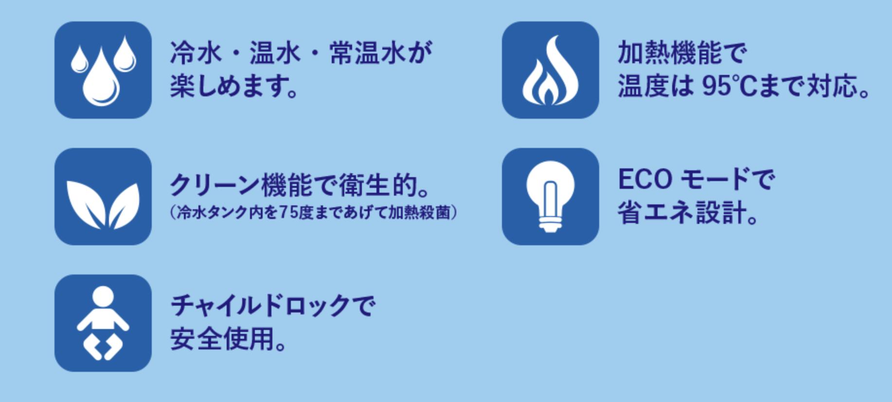 ピュレストの5つの機能