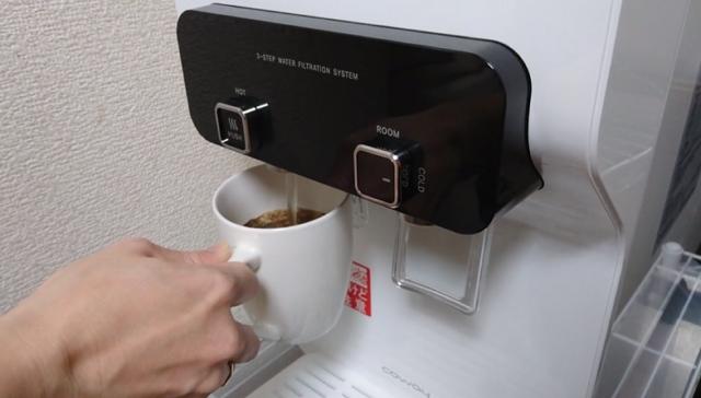 ウォータースタンドで作るコーヒー