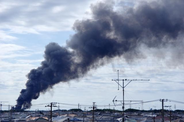 火事の黒煙