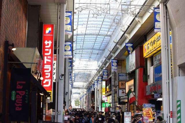 商店街のマツモトキヨシ